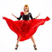 Moderne stijl danser springen — Stockfoto