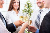 People with champagne — Stock Photo