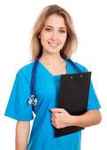 Jonge vrouwelijke arts — Stockfoto