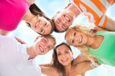 Happy young friends group team — Stock Photo