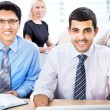 Happy business man with colleagues — Stock Photo #44746869