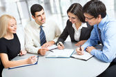 A business team — Foto Stock