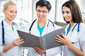 Young doctors in hospital — Stock Photo