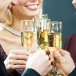 Glasses with champagne — Stock Photo #44750619