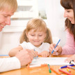 Happy family drawing — Stock Photo #44754245