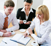 Business team discussing plan — Foto Stock