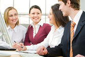 Businesspeople work in team — Foto Stock