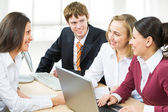 Business team discussing plan — Stock Photo