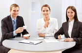 Business people with a coffee — Stock Photo