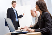 Business trainer — Stock Photo