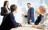 White collar workers at a meeting — Stock Photo