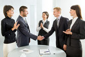 Successful negotiations — Stock Photo