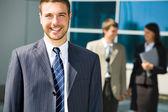 Smiling businessman — Stock Photo