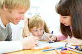 Familjen ritning — Stockfoto