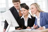 Business-Team in einer Sitzung — Stockfoto