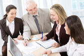 Working business people — Stock Photo