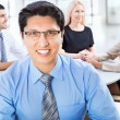Happy business man with colleagues — Stock Photo #44792291