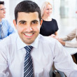 Happy business man with colleagues — Stock Photo #44792321