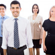 Business team standing in a row — Stock Photo #44792343