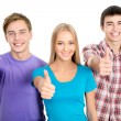 Students show thumbs up — Stock Photo #44797857