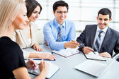 Business people working at meeting — Stock Photo