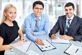 Toplantıda çalışma iş adamları — Stok fotoğraf