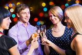 Friends celebrating New Year — Stock Photo