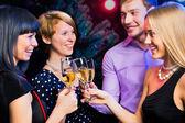 Arkadaş noel kutlamaları — Stok fotoğraf