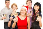 Koledzy, życząc wesołych świąt — Zdjęcie stockowe