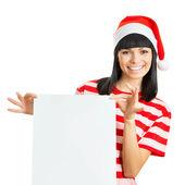 Santa dziewczyna — Zdjęcie stockowe