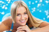 Beautiful blond woman — Foto Stock
