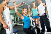 Woman at the gym. Fitness — Stock Photo