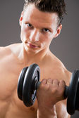 Fit muscular man — Foto Stock