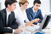 Business people working with computer — Stock Photo