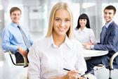 Portrait of attractive business woman — Stok fotoğraf