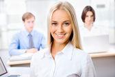 Attractive business woman — Stok fotoğraf