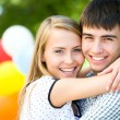 Young woman embracing her boyfriend — Stock Photo #44809763