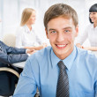 Happy business man with colleagues — Stock Photo #44800205