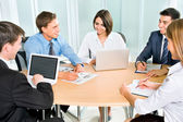 Business team working on business project — Stock Photo