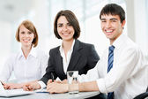 Young business people. Teamwork. — Stock Photo