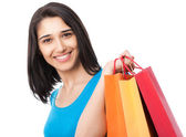 : Woman with shopping bags — Stock Photo