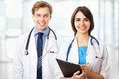 Doctor with  colleague — Stockfoto
