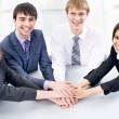 Business team gesturing unity — Stock Photo #44821007