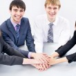 Business team gesturing unity — Stock Photo #44821017