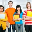 Multi-racial college students — Stock Photo