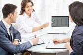 Empresarios en reunión — Foto de Stock