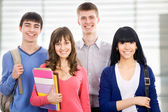 Happy students — Stock Photo
