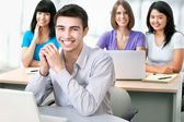 Students look at the camera — Stock Photo