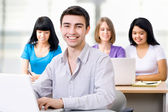 Young students studying — Stock Photo
