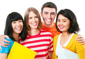 Multi-racial students — Stock Photo